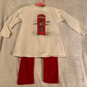 AUTHENTIC Moschino Shirt & Pants Set. Size 2T